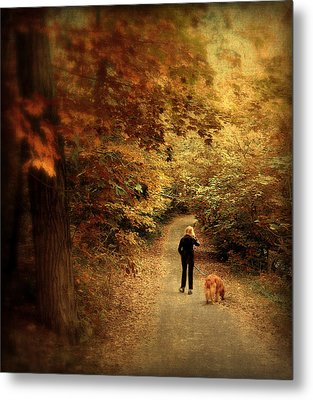 Autumn Stroll Metal Print by Jessica Jenney