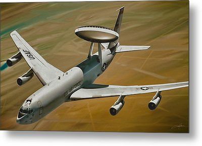 Awacs Up For A Drink Metal Print by Dale Jackson