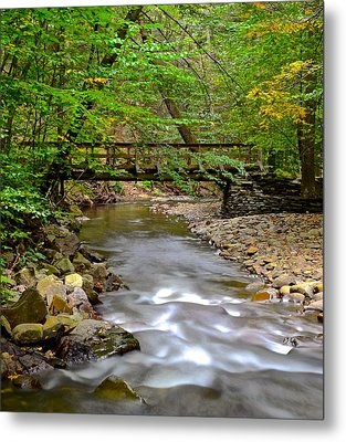 Babbling Brook Metal Print by Frozen in Time Fine Art Photography