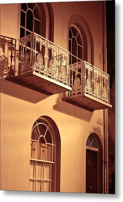 Balconies Metal Print by Tom Gowanlock