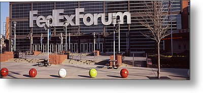 Basketball Stadium In The City, Fedex Metal Print by Panoramic Images