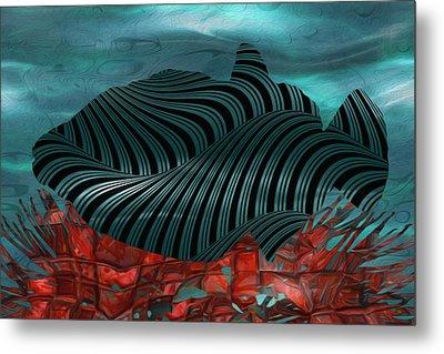 Beneath The Waves Series Metal Print by Jack Zulli