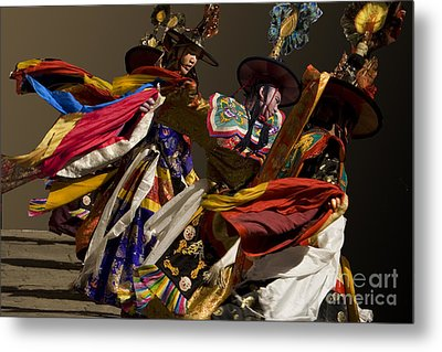 Metal Print featuring the digital art Bhutanese Festival by Angelika Drake