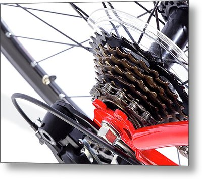 Bicycle Rear Gears Metal Print by Science Photo Library