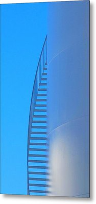 Metal Print featuring the photograph Blue Stairs by John King