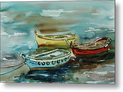 3 Boats II Metal Print by Xueling Zou