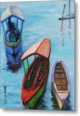 3 Boats IIi Metal Print by Xueling Zou