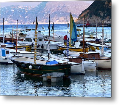 Metal Print featuring the photograph Boats In The Harbor by Mike Ste Marie