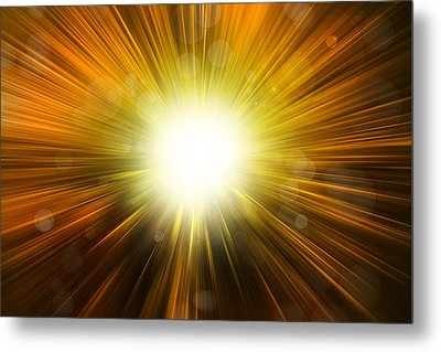 Bright Background  Metal Print by Les Cunliffe