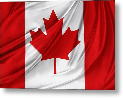 Canadian Flag  Metal Print by Les Cunliffe