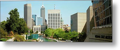 Canal In A City, Indianapolis Canal Metal Print