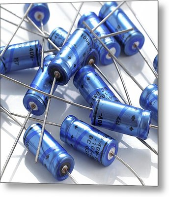 Capacitors Metal Print by Science Photo Library