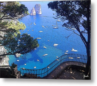 Capri Metal Print by Ze  Di