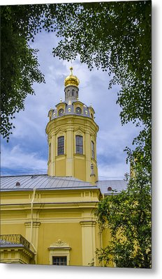 Cathedral Of Saints Peter And Paul - St Petersburg - Russia Metal Print by Jon Berghoff