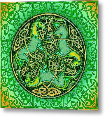 3 Celtic Irish Horses Metal Print