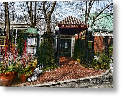 Central Park Boathouse Metal Print by Paul Ward