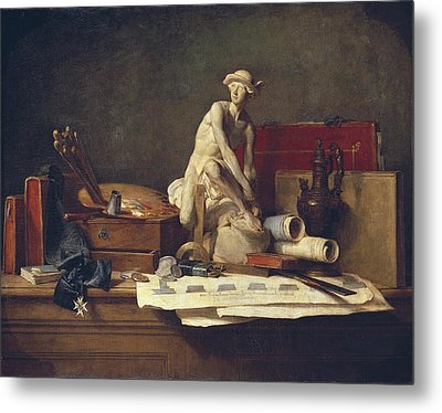 Chardin, Jean Baptiste Sim�on Metal Print by Everett