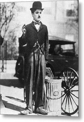Charlie Chaplin Metal Print by MMG Archives
