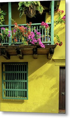 Charming Spanish Colonial Architecture Metal Print by Jerry Ginsberg