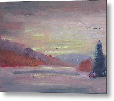 Metal Print featuring the painting Cheshire Lake by Len Stomski