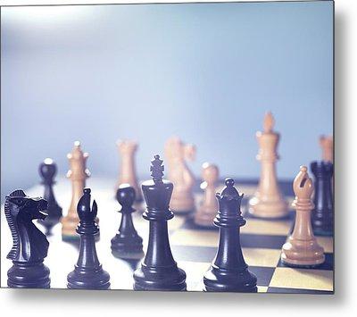 Chess Match Metal Print by Tek Image