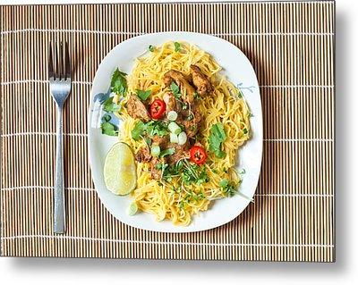 Chicken Noodles Metal Print by Tom Gowanlock