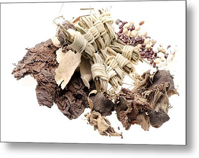 Chinese Medicinal Herbs Metal Print by Science Photo Library