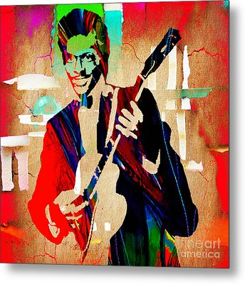 Chuck Berry Collection Metal Print by Marvin Blaine