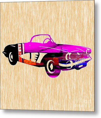 Classic Corvette Metal Print by Marvin Blaine