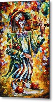 Clown Metal Print by Leonid Afremov