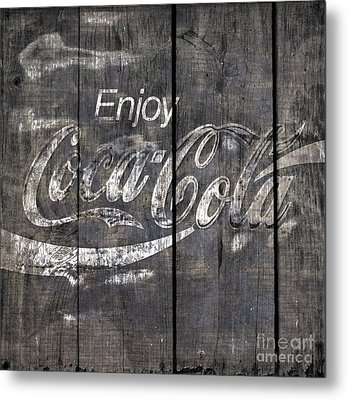 Coca Cola Sign Metal Print by John Stephens