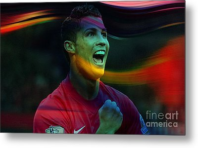 Cristiano Ronaldo Metal Print by Marvin Blaine