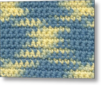 Crochet Made With Variegated Yarn Metal Print by Kerstin Ivarsson