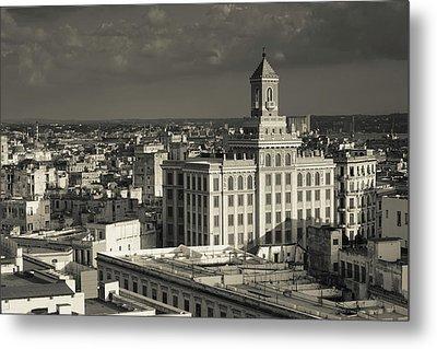 Cuba, Havana, Elevated View Metal Print