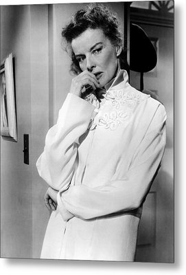 Desk Set, Katharine Hepburn, 1957 Metal Print by Everett