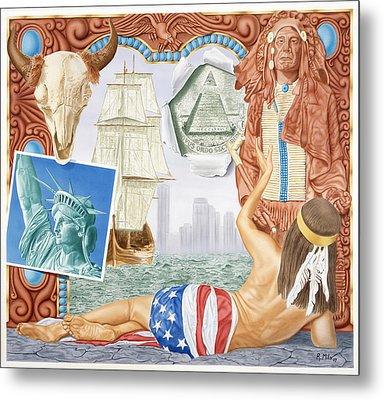 Destruction Of Native America Metal Print