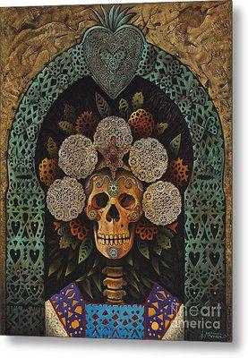 Dia De Muertos Madonna Metal Print by Ricardo Chavez-Mendez