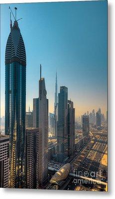 Dubai Skyline Metal Print by Fototrav Print