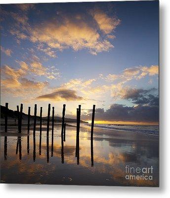 Dunedin St Clair Beach At Sunrise Metal Print by Colin and Linda McKie