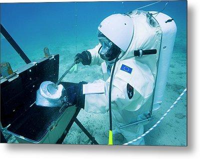 Esa Underwater Astronaut Training Metal Print by Alexis Rosenfeld