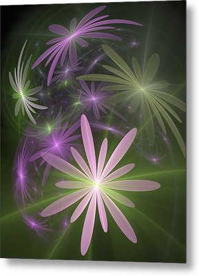 Metal Print featuring the digital art Ethereal Flowers by Svetlana Nikolova
