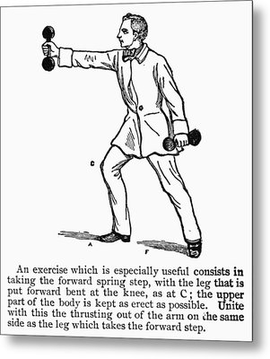 Exercise, 19th Century Metal Print by Granger