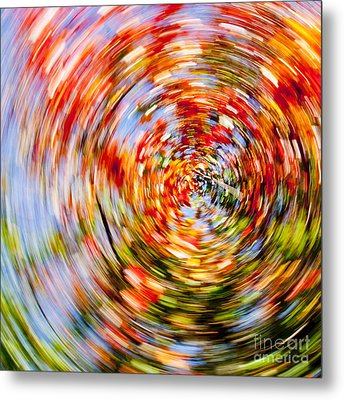 Fall Abstract Metal Print by Steven Ralser
