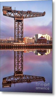 Finnieston Crane Glasgow Metal Print by John Farnan