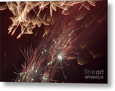 Fireworks On Bastille Day Metal Print by Sami Sarkis