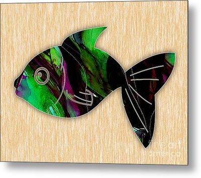 Fish Painting Metal Print
