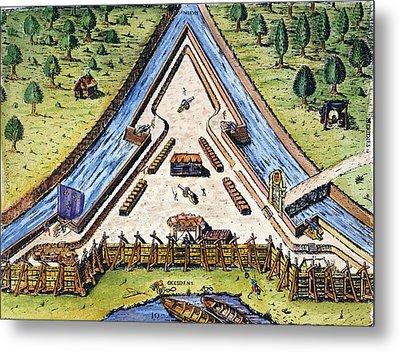 Fort Caroline, 1564 Metal Print by Granger
