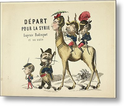 French Caricature Metal Print