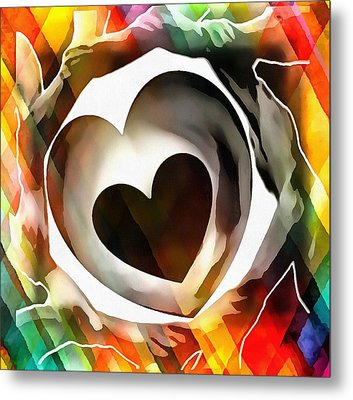 Get Connected At Heart Metal Print by Catherine Lott
