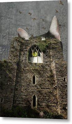 Gothic Kitty Metal Print